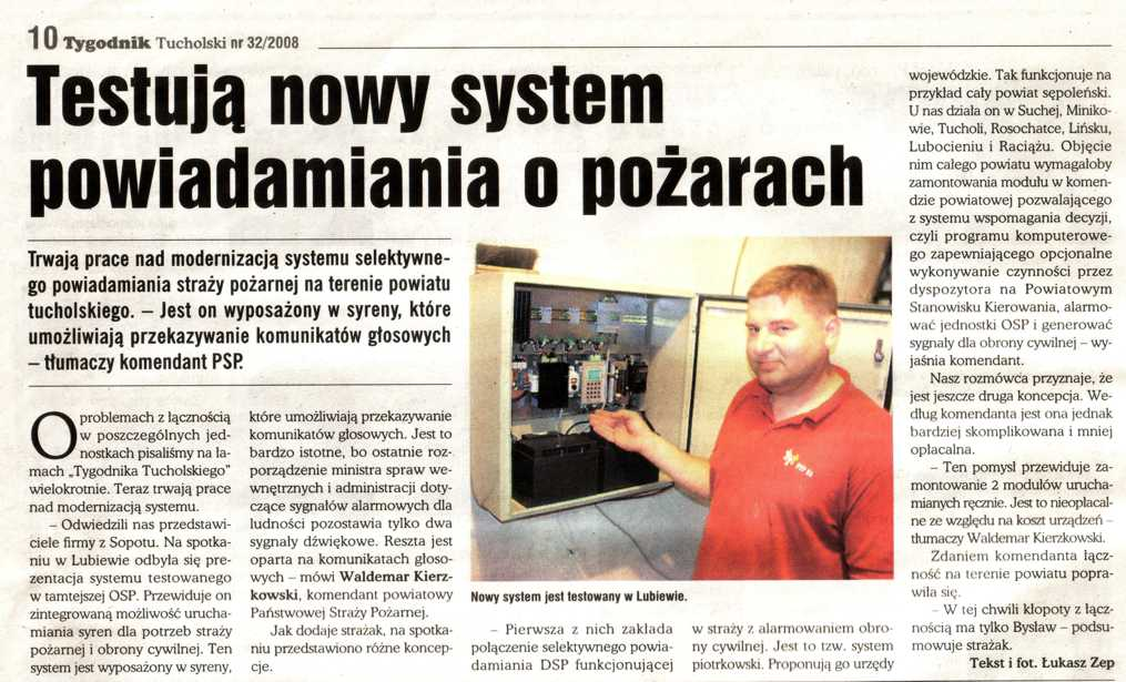 Testują nowy system powiadamiania o pożarach