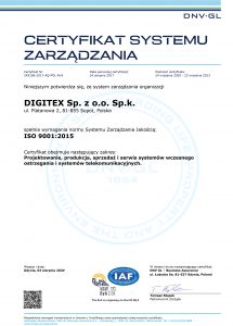 digitex ISO 9001:2015